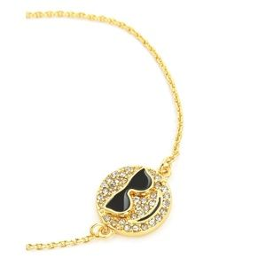 Juicy Couture Gold Crystal Smiley Tennis Bracelet